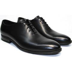 Классические черные туфли мужские Ikos 006-1 Black
