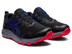 Непромокаемые кроссовки внедорожники Asics Gel Sonoma 6 G-TX Black-Monaco Blue мужские