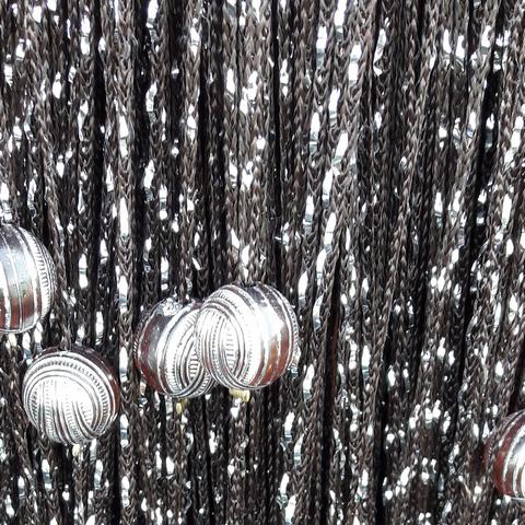 Кисея дождь с шарами - Венге. Ш-300см., В-280см. Арт.204