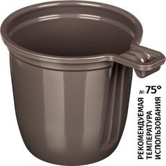 Чашка одноразовая Upax unity пластиковая коричневая 200 мл 50 штук в упаковке