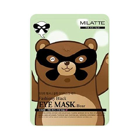 Маска от морщин вокруг глаз с прополисом Fashiony Black Eye Mask Bear MILATTE