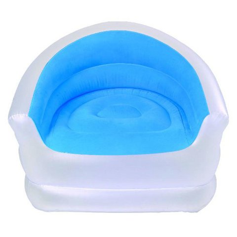 Надувное кресло Relax Colour-splash Lounge Chair 37257 (Синий/Белый)