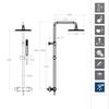 Душевая система с термостатом и тропическим душем для ванны AROLA 265403RK250 - фото №2
