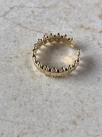 Кольцо Тиана, позолота