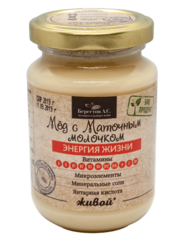 Мед Живой С маточным молочком/ стекло 240г Мёд