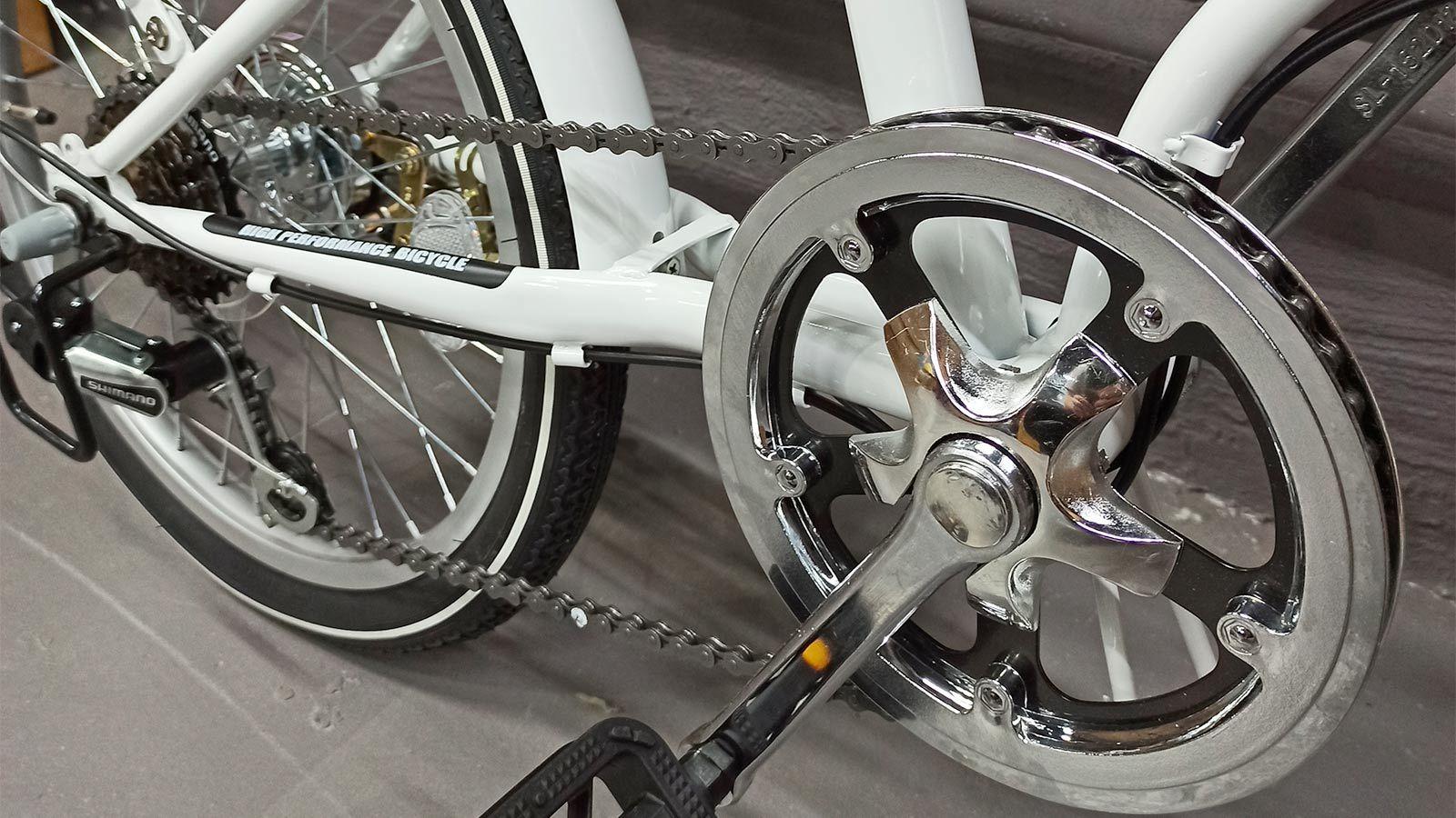 педаль и звездочка складного велосипеда