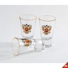Подарочный набор из 3 стопок для водки «Герб», 60 мл, фото 4