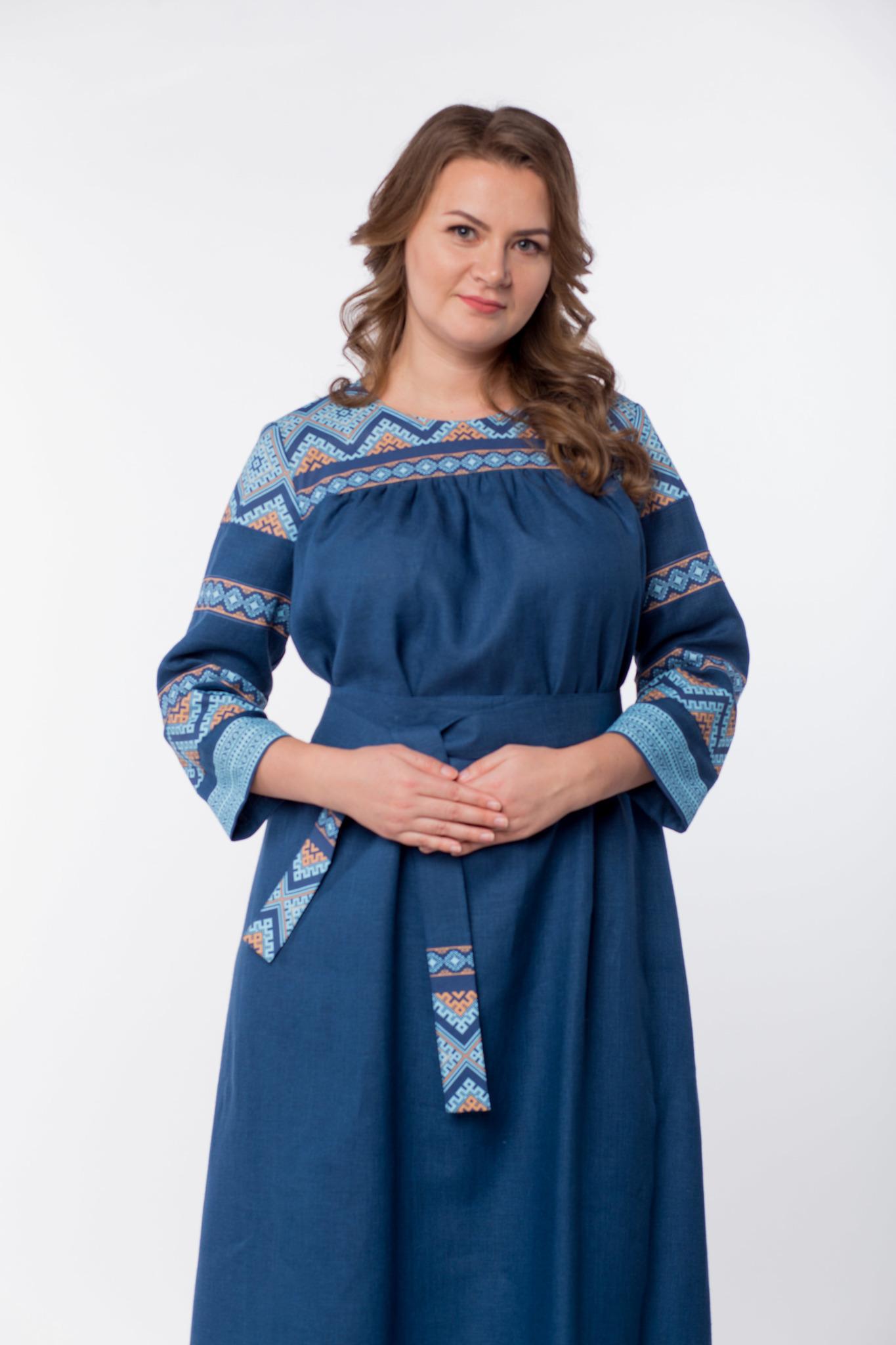 Платье льняное Каспийское от Иванки