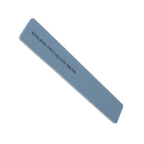 Пилка широкая прямая минеральная для ногтей EXCLUSIVE 100/150 грит