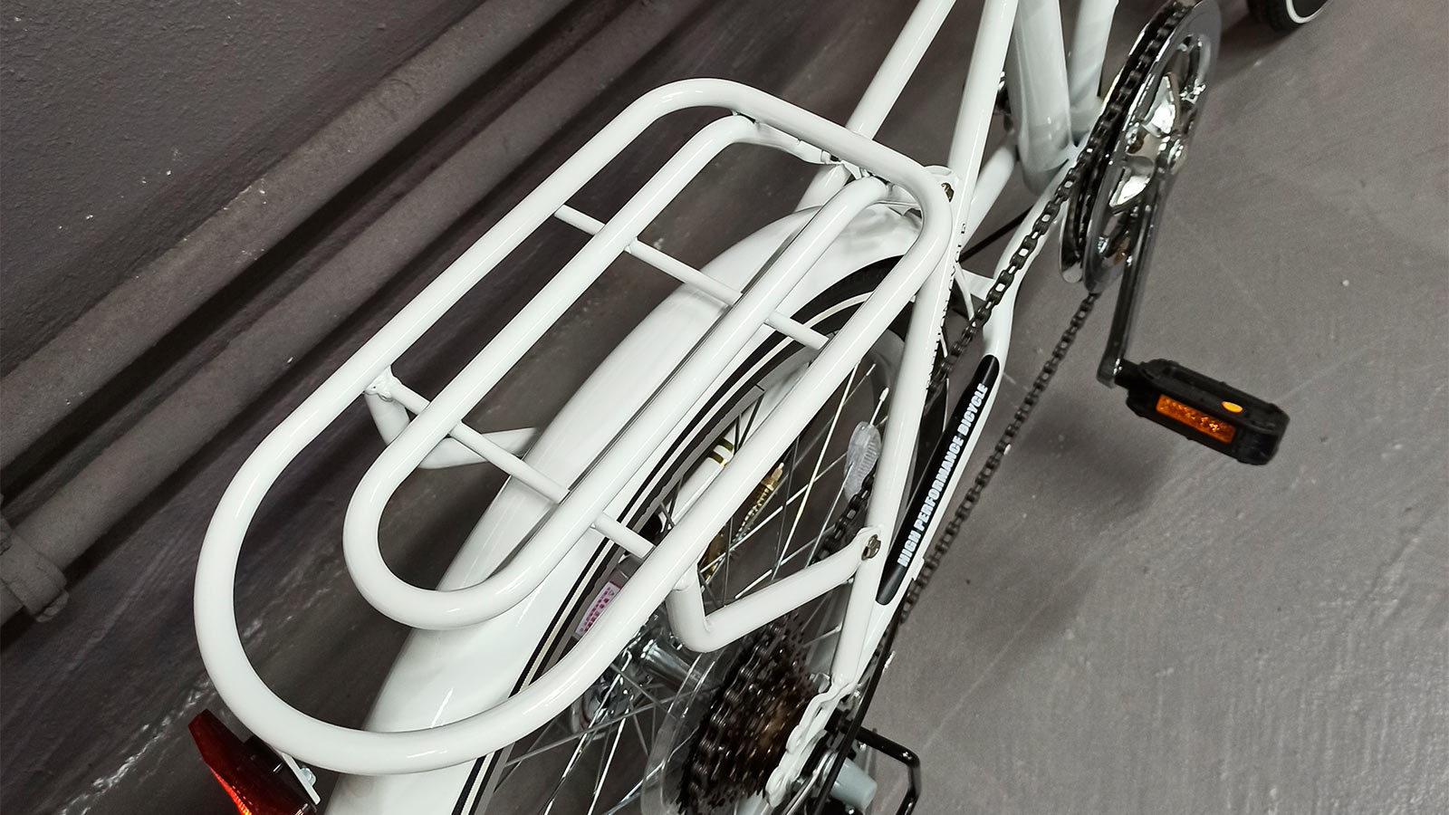 багажник городского велосипеда