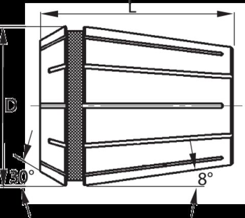 Набор цанг ER, 23 шт., 4–26 мм ER 40