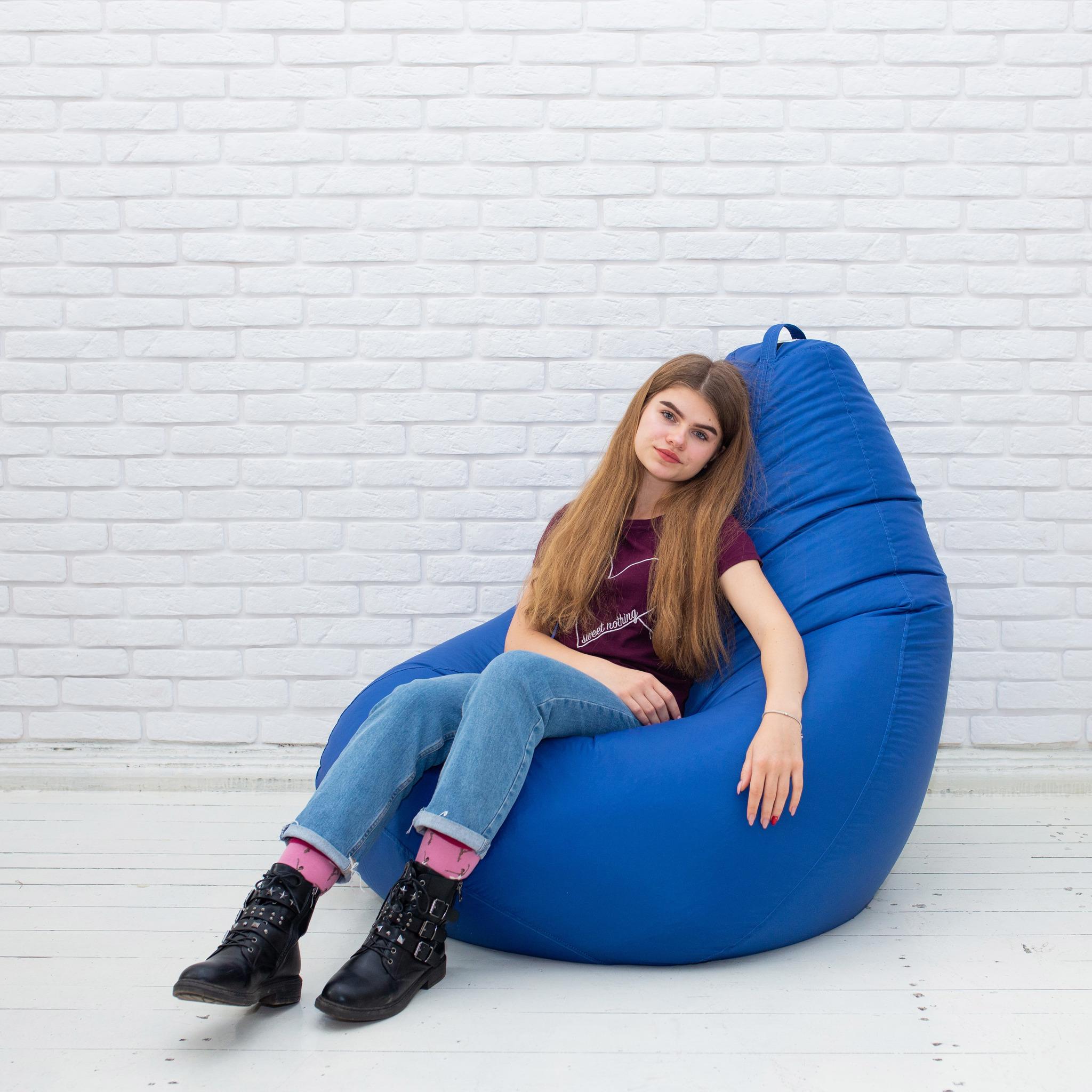 Кресло-мешок Груша XL синяя