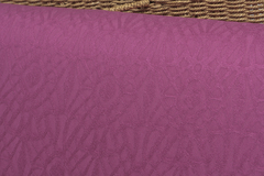 Бамбуковый жаккард цвет ЦИКЛОМЕН рисунок КРУЖЕВО