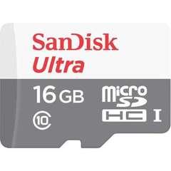 Карта памяти microSDHC 16GB SanDisk Class 10 Ultra