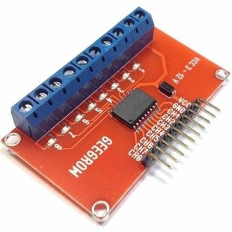 8-канальный транзисторный усилитель выходов на ULN2803 для микроконтроллеров