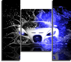 "Модульная картина ""Bugatti Veyron"""