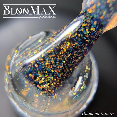 Гель лак с ароматом клубники Diamond Rain 01, 12 мл