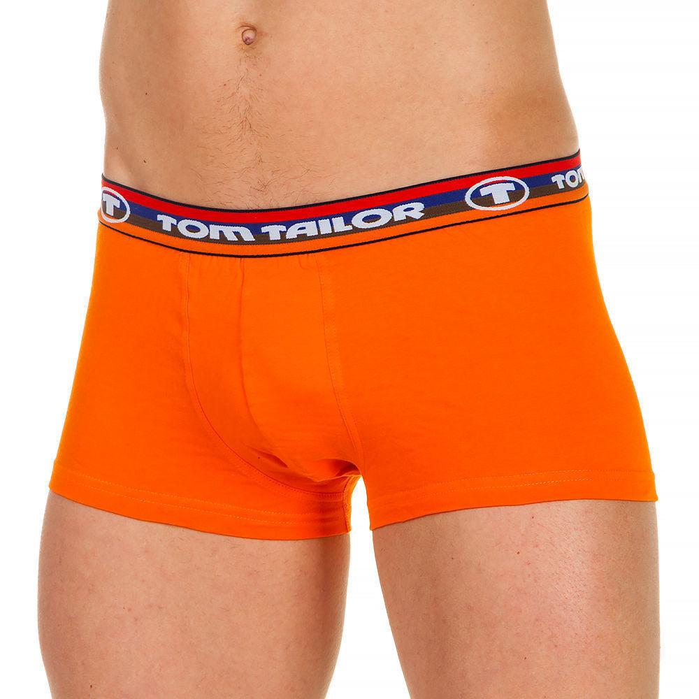 Трусы мужские боксеры оранжевые с трёх-цветной резинкой (yellow-dark-solid) Tom  Tailor 230-2