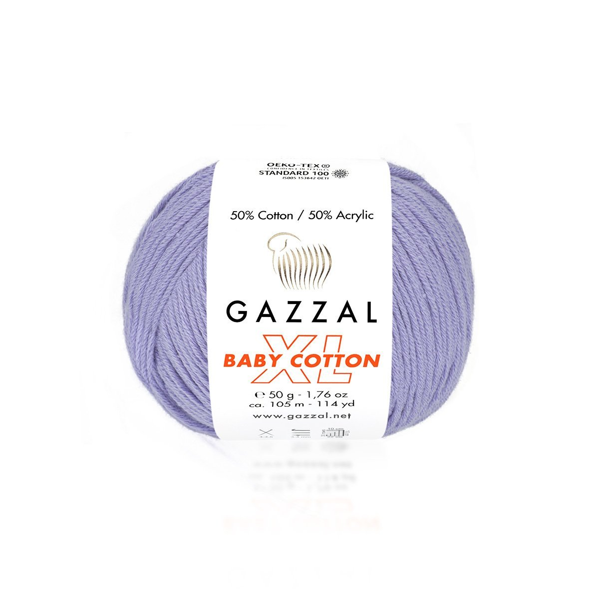 Пряжа Gazzal Baby Cotton XL 3420 пыльная сирень