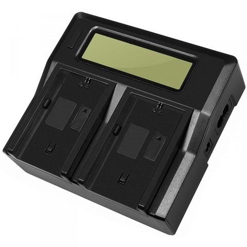Двойное зарядное LCD устройство Allytec для Sony NP-FH50