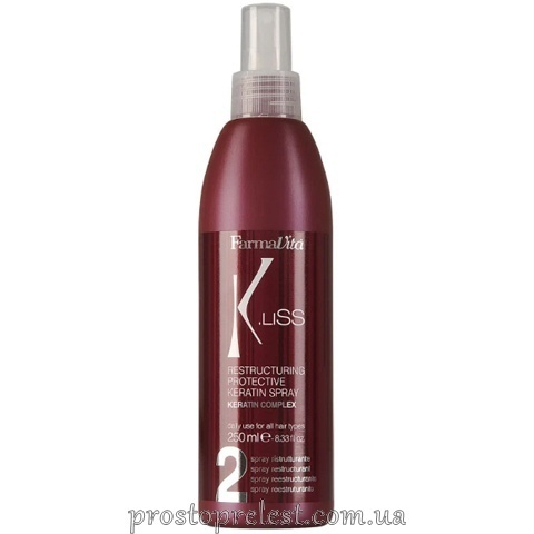 Farmavita K.Liss Restructuring Smoothing Spray - Спрей для реконструкції волосся