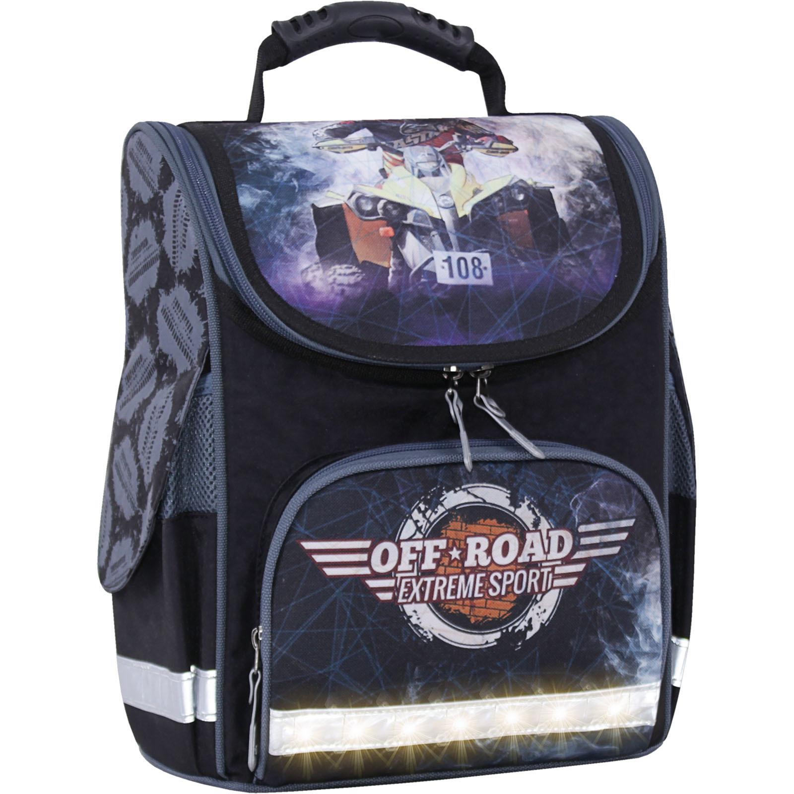 Школьные рюкзаки Рюкзак школьный каркасный с фонариками Bagland Успех 12 л. черный 505 (00551703) IMG_3889свет.суб505-1600.jpg