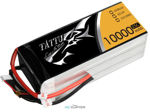 АКБ Gens Ace TATTU 10000mAh 22.2V 25C 6S1P Lipo Battery Pack