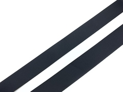Репсовая лента (сантюр) 25мм, черная (упаковка 92 м)