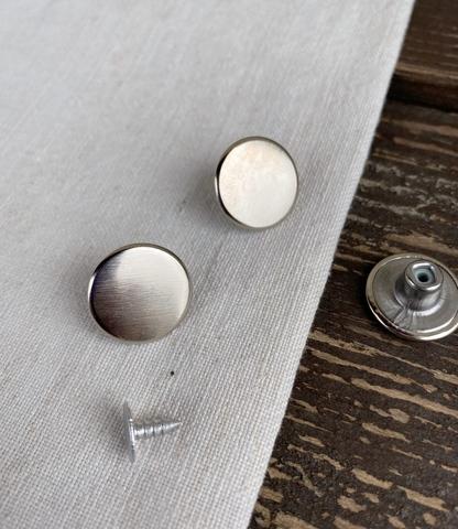 Пуговица джинсовая, 17мм, никель