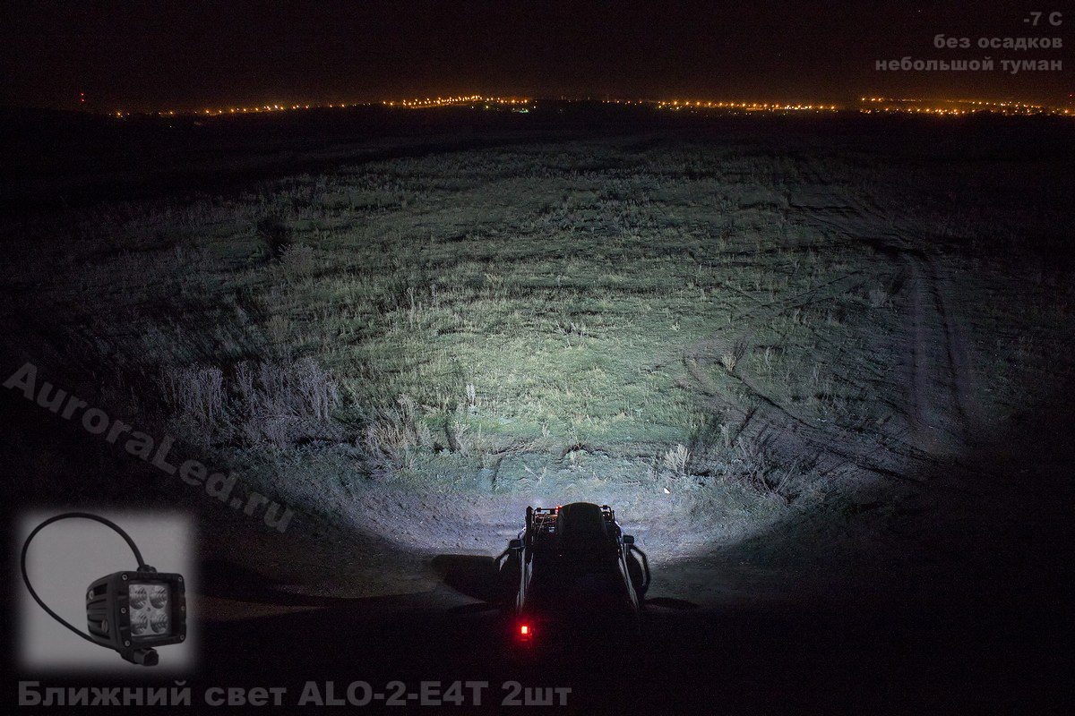 Фара Aurora 2 ближнего белого света врезная ALO-E-2-E4T ALO-E-2-E4T