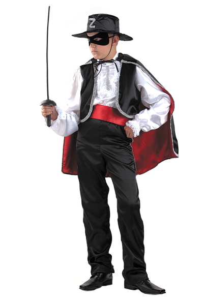 Карнавальный костюм Зорро (текстиль)
