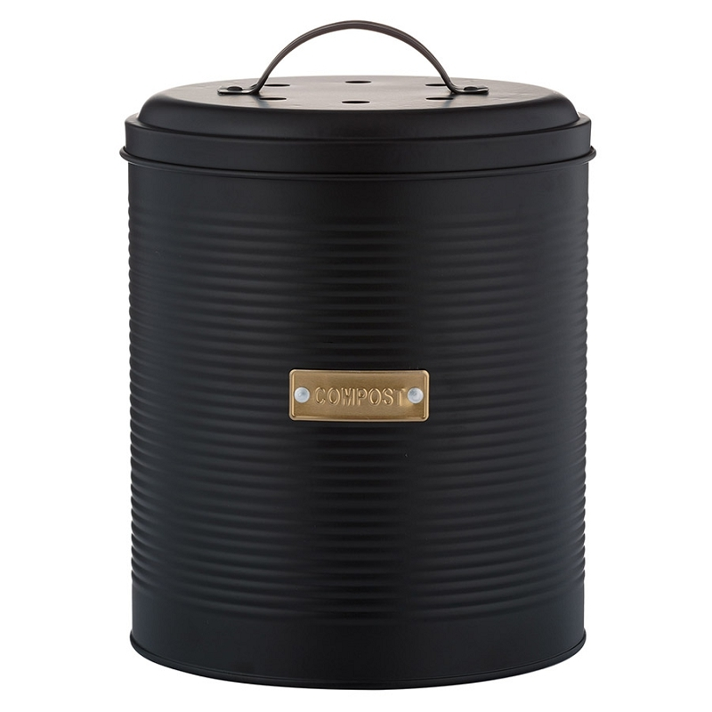 Контейнер для пищевых отходов Otto чёрный 2,5 л