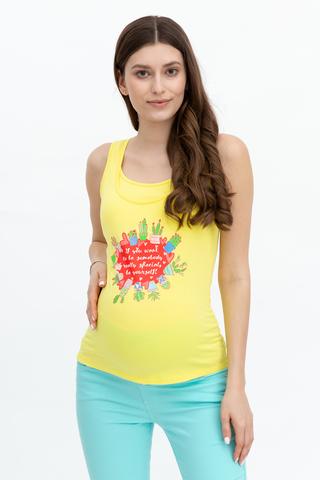 Майка для беременных и кормящих 08509 лимонный