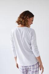 Сіра бавовняна футболка з довгими рукавами