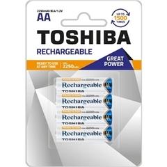 Аккумуляторы Toshiba Ready to Use Ni-MH R6 (2250mAh) 4шт. Аккумуляторы.