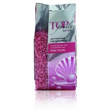 Воск горячий ITALWAX Top Formula Pink Pearl (розовый жемчуг) гранулы 100гр