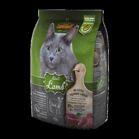 Leonardo Adult Lamb Сухой корм для кошек, склонных к аллергии, с ягненком и рисом