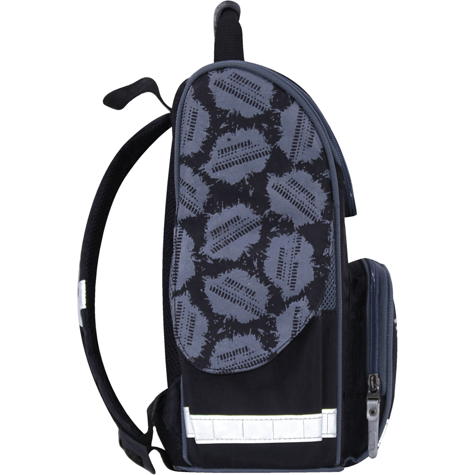 Рюкзак школьный каркасный с фонариками Bagland Успех 12 л. черный 505 (00551703)