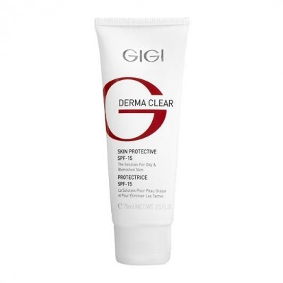 GIGI Derma Clear: Крем увлажняющий защитный SPF15 для проблемной кожи лица (Cream Skin Protective SPF-15), 75мл