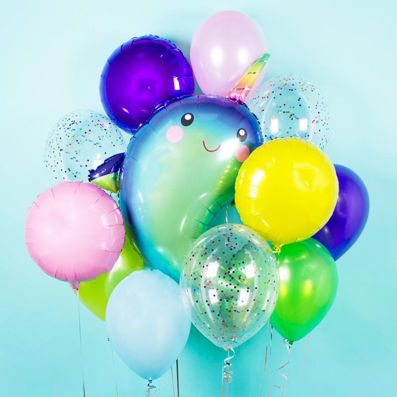 Купить воздушный шар Нарвал Единорог в Перми