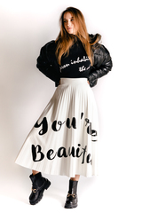 Кожаная юбка плиссе интернет магазин