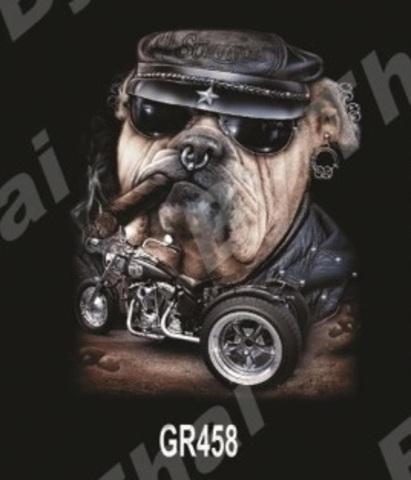 GR458 Бульдог в кепке с сигарой XXL