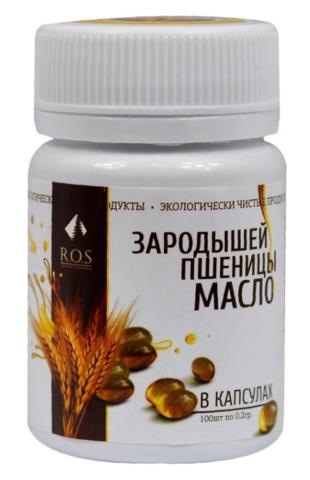 Масло зародышей пшеницы в капсулах, 100 шт