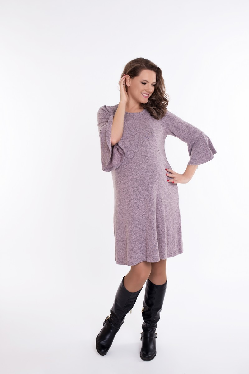 Фото платье для беременных и кормящих GEMKO от магазина СкороМама, розовый, размеры.