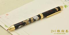Многофункциональная ручка Pilot 2+1 Miyabi Emaki (Дракон)