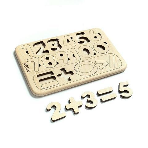 Пазл цифры деревянные