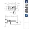 Встраиваемый смеситель для раковины ALEXIA 362103NC никель - фото №2