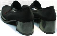 Черные туфли на устойчивом каблуке 6 см весна осень H&G BEM 167 10B-Black.