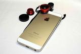 Объективы 3в1 для iPhone, iPad и Samsung (Красный)