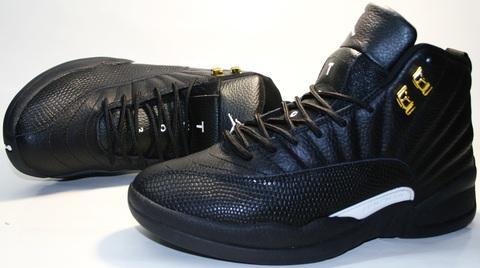 Кроссовки баскетбольные черного цвета nike air jordan - 12 retro  41( 26 см) размер